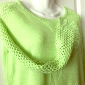 Atmosphere Neon/Lime Green Long Sweater size S